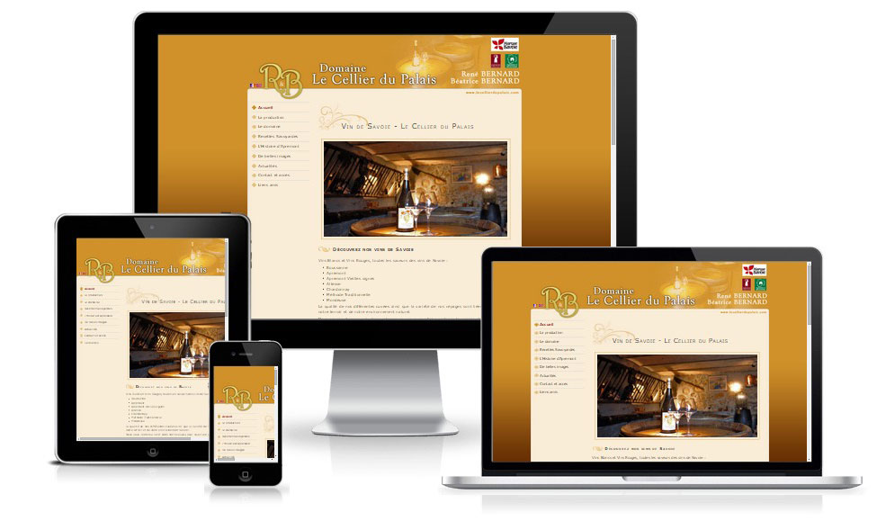 agence web chambery creation site internet lecellierdupalais.com