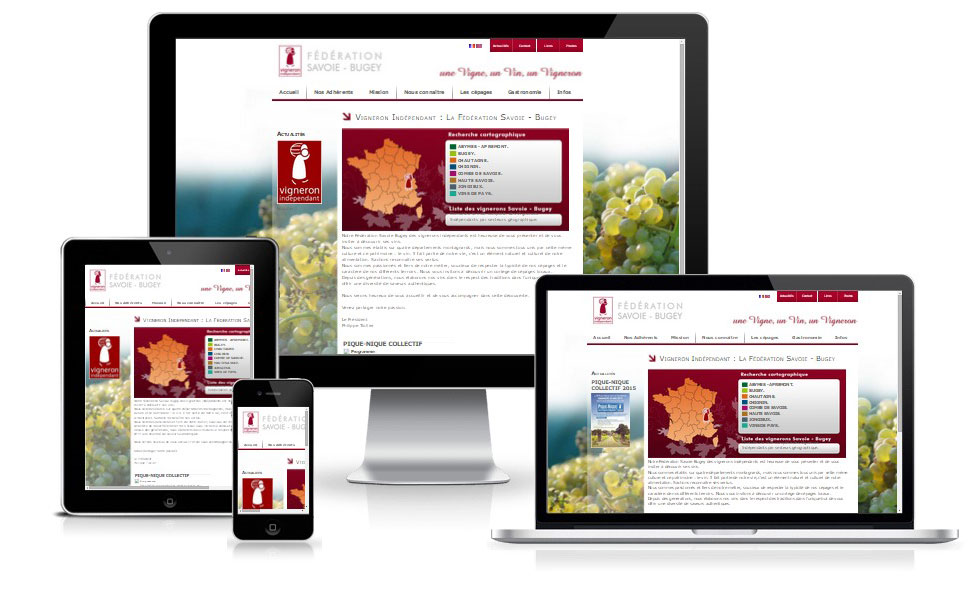 agence web chambery creation site internet Vignerons-Indépendants-Savoie.fr