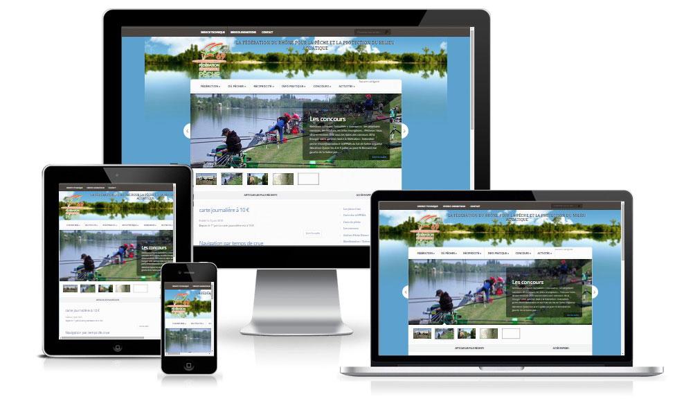 agence web chambery creation site internet federation-peche-rhone.fr