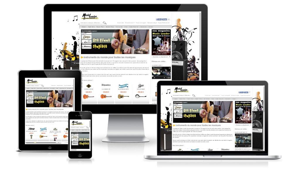 agence web chambery creation site internet music-leader-international.com